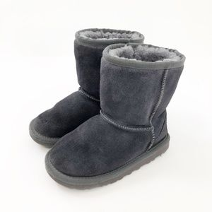 UGG Little Girl Size 12 Gray Shearling Booties